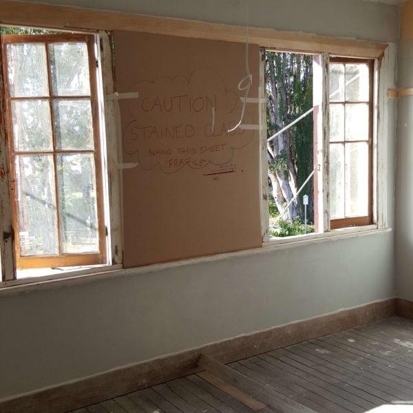 window frame paint job